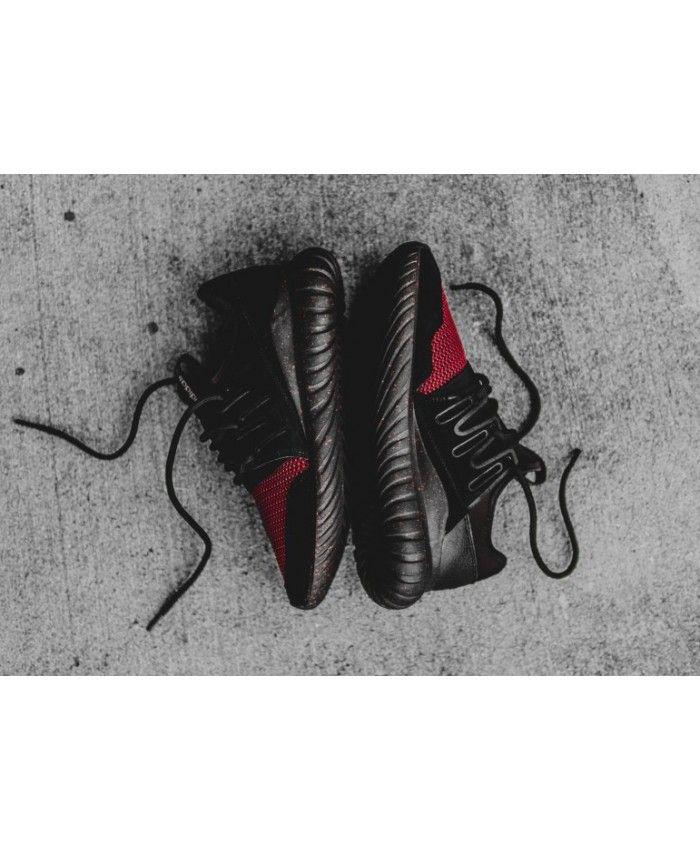 meet 30ea6 a1550 Adidas Tubular Radial Black Burgundy Shoes