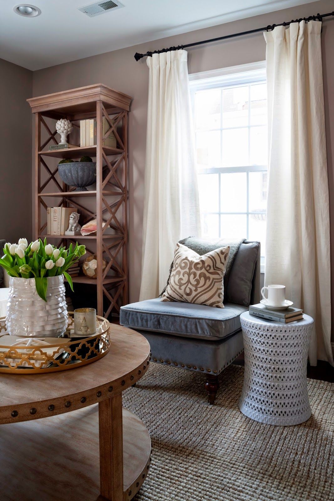 45++ Farmhouse living room window treatments most popular