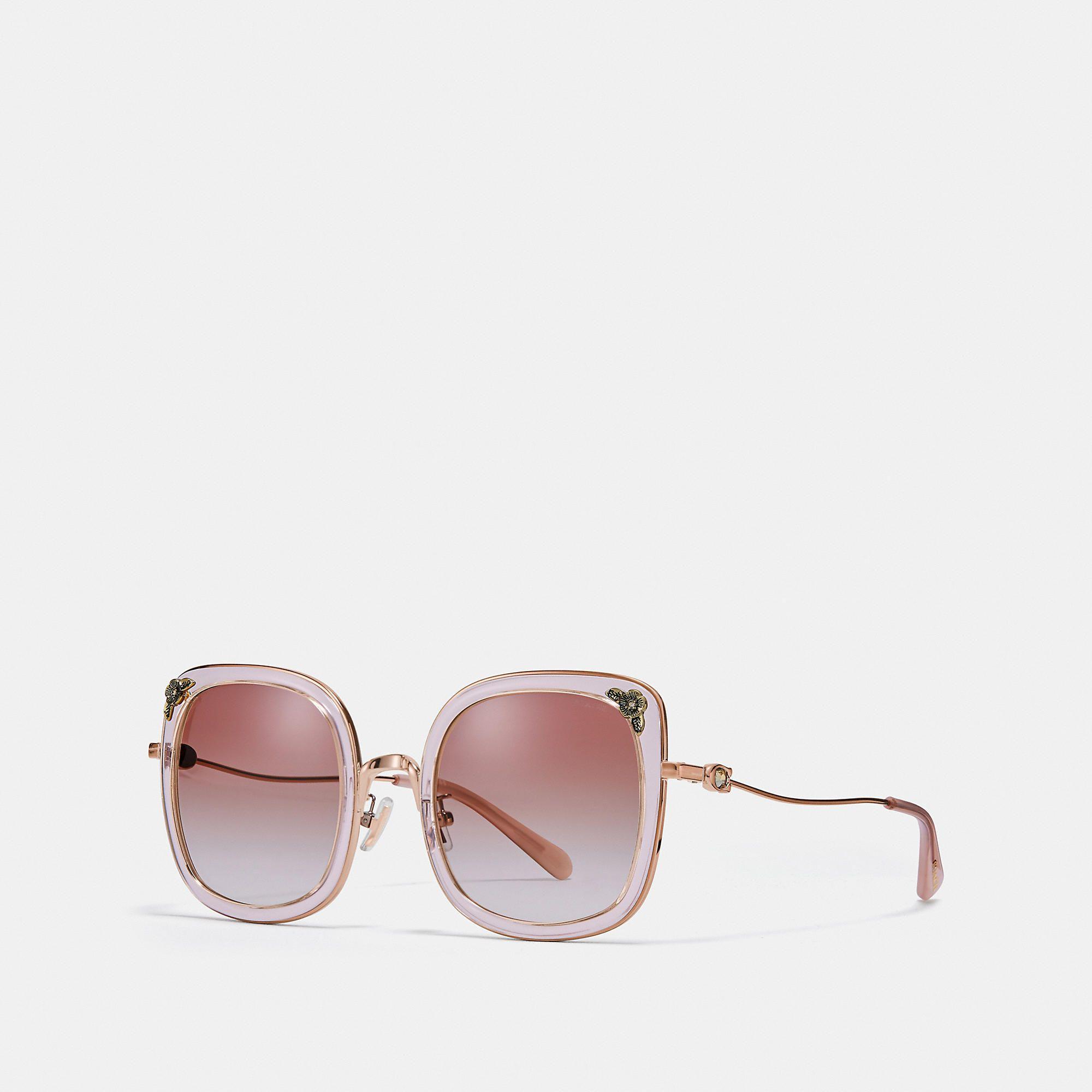 a986e723bd COACH Tea Rose Square Sunglasses - Women s Sunwear