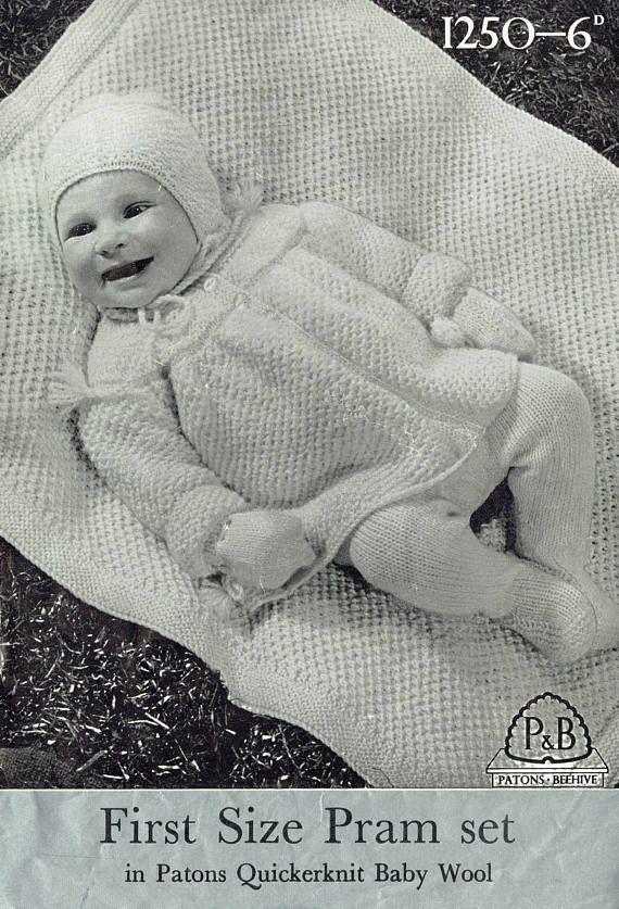 """Pretty Lace Detail DK 16-22/"""" Knitting Pattern Baby Jackets Bonnet Helmet"""