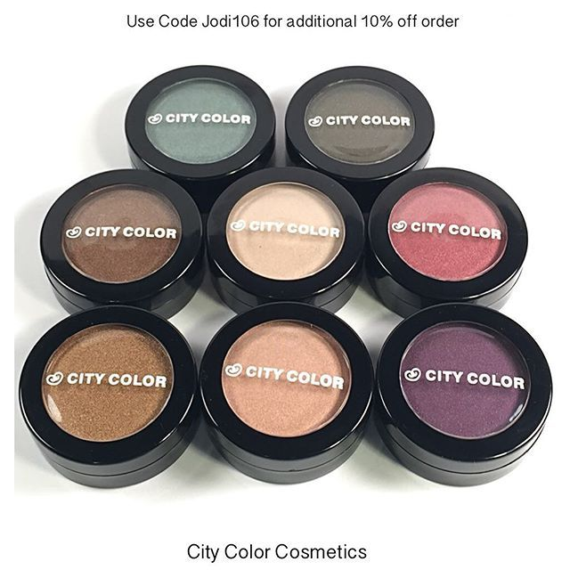 These are the @citycolorcosmetics single shadows. They are hands down some of the best, most affordable shadows I have found. The pigmentation and opaqueness is amazing. I will be posting swatches throughout today to showcase these. They are a must have. And the best part - they are on sale for $2.49 and you can save an additional 10% with my affiliate code Jodi106. #citycolorcosmetics  #eyeshadow #shadows #cosmetics #bblogger #beauty #makeup #discount