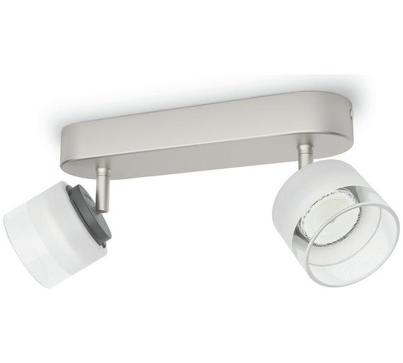 Philips Myliving Fremont 2 Light Ceiling Bar Nickel Ceiling Lights Lighting White Led Lights