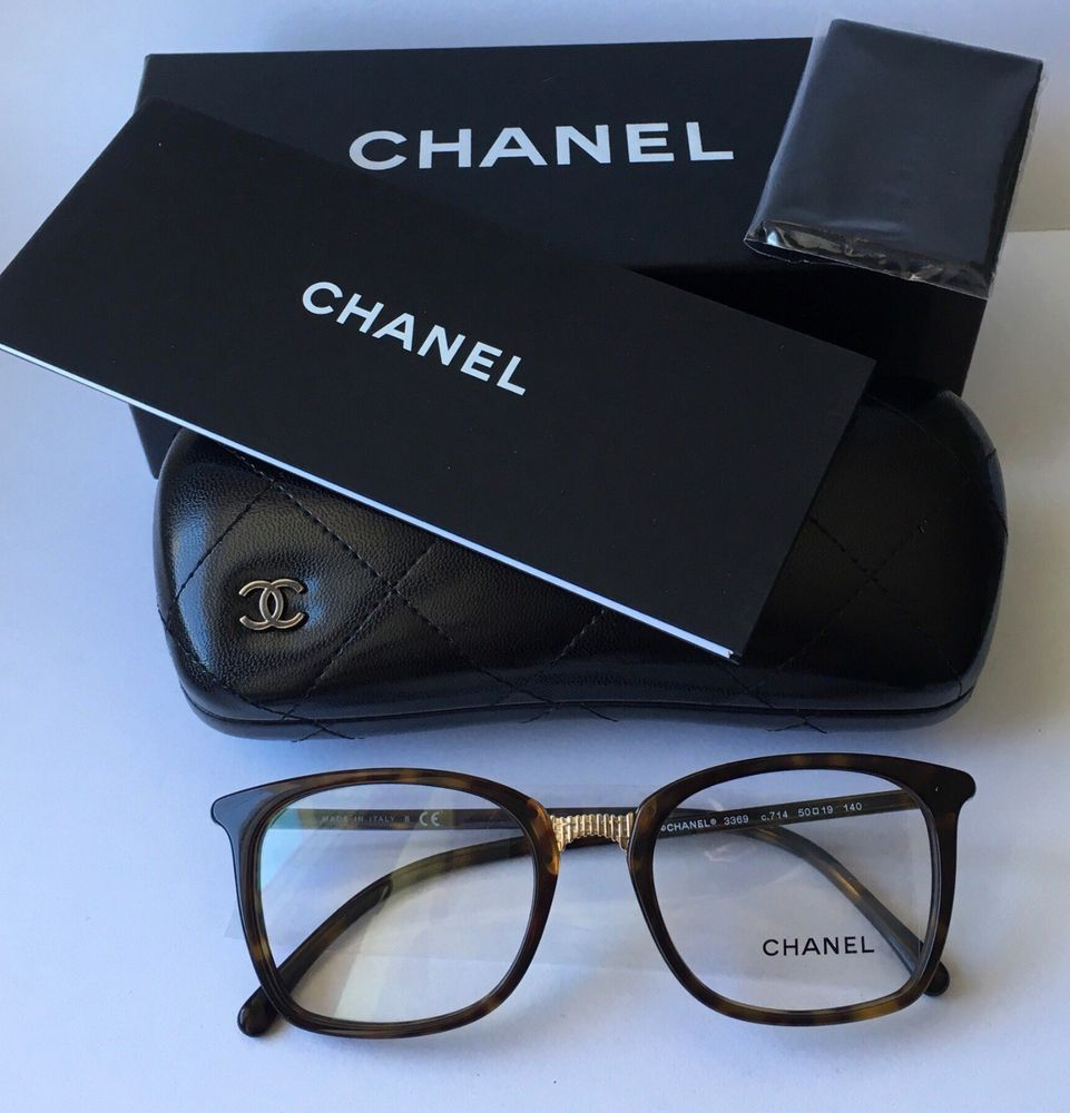 44f359b0ed8 Brand New 2018 Chanel Women Eyewear CH 3369 C714 Authentic Frame Glasses  Case S  fashion  clothing  shoes  accessories  womensaccessories ...