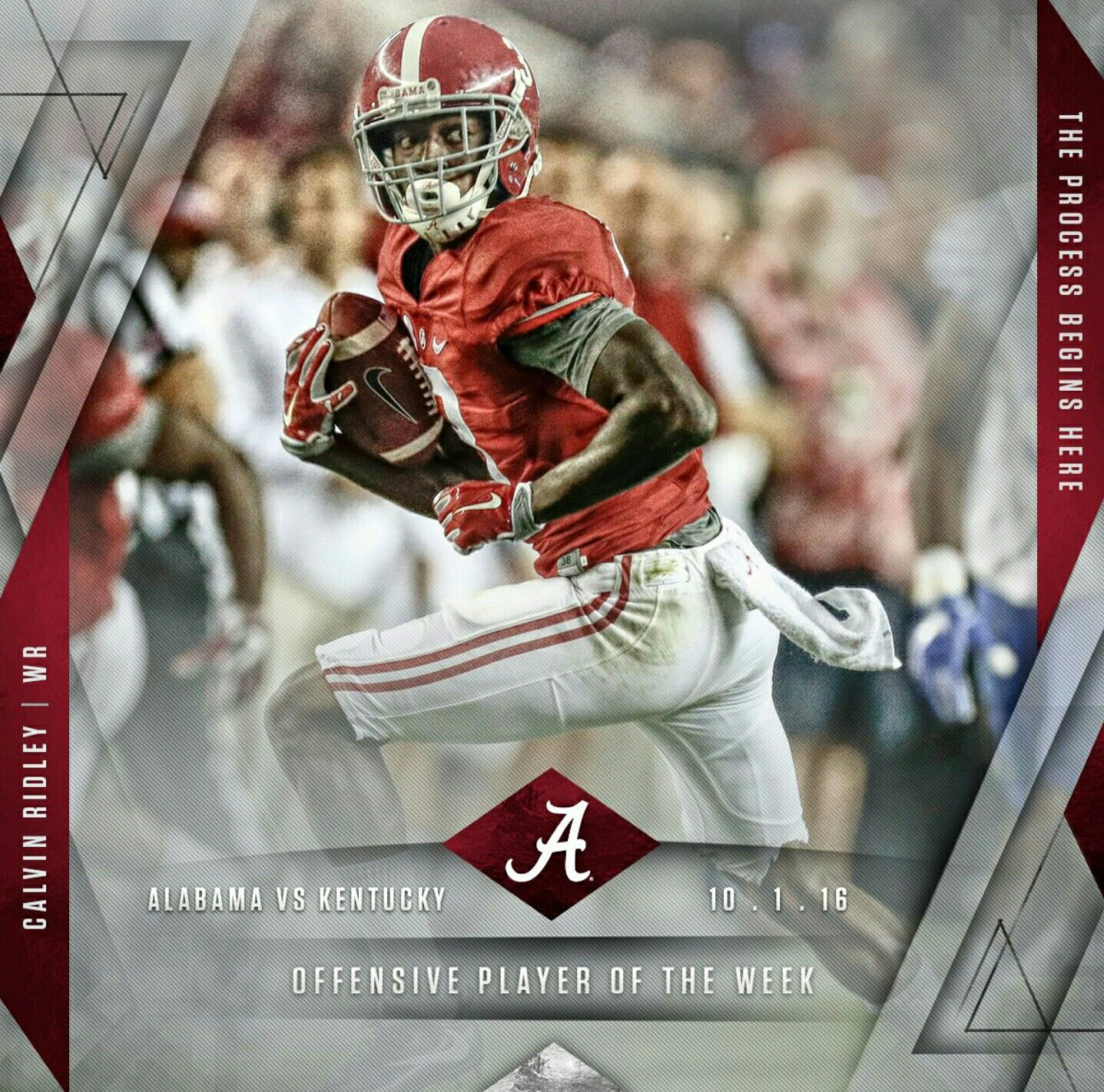 Calvin Ridley Offensive Player Of The Week Vs Uk Sophomore Calvin Ridley Had A Ca Crimson Tide Football Alabama Crimson Tide Alabama Crimson Tide Football
