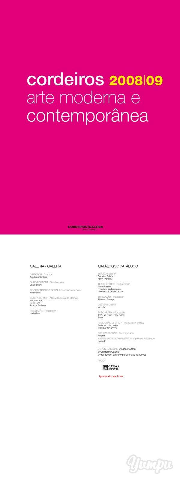cordeiros 2008|09 arte moderna e contemporânea - Galeria Cordeiros - Magazine with 636 pages: cordeiros 2008|09 arte moderna e contemporânea - Galeria Cordeiros