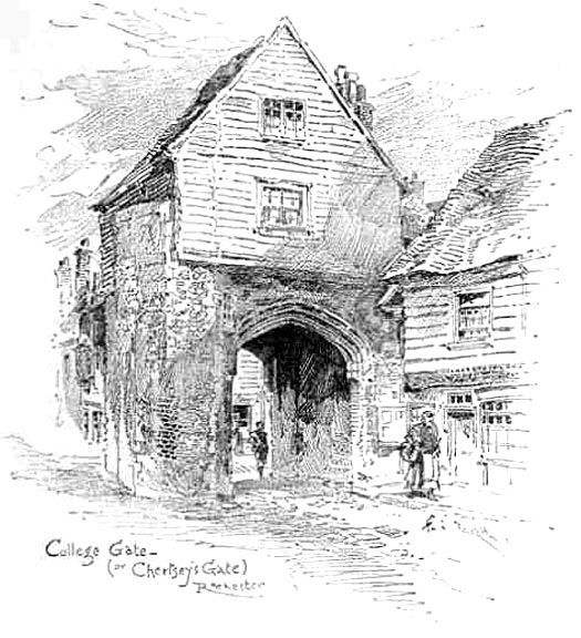"John Jasper's Gateway (From the Cathedral) by F. G. Kitton from Walters, The Complete ""Mystery of Edwin Drood"""