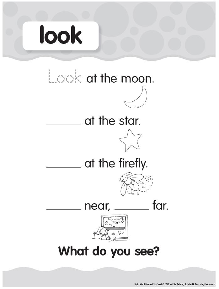 Pre Primer Sight Words Look Printable Preschool Sight Words Pre Primer Sight Words Sight Words
