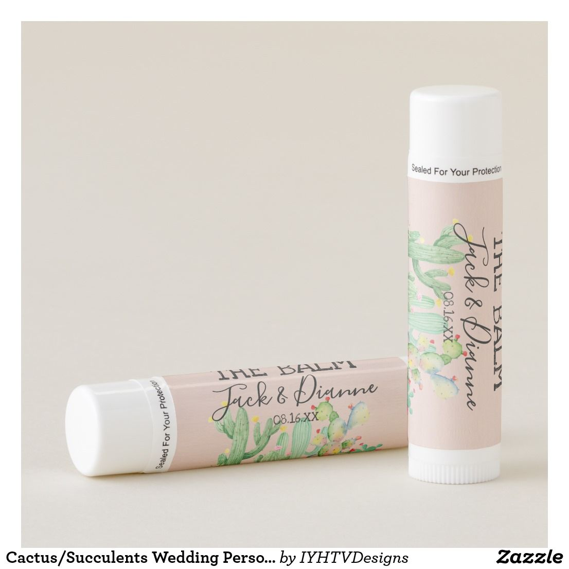 Cactus/Succulents Wedding Personalized Lip Balm These lip balms are ...