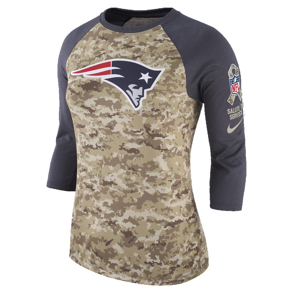 Nike Dry Legend STS Raglan (NFL Patriots) Women s 3 4 Sleeve T-Shirt Size 32c3fe128