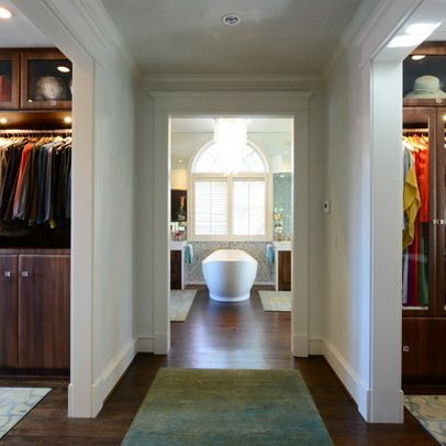 Bathroom And Walk In Closet Designs Inspiration His And Her Closet Design Ideas Pictures Remodel And Decor Decorating Inspiration