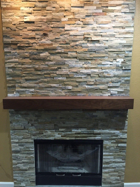 Walnut Modern Beam Mantel Black Walnut Mantel Modern Fireplace