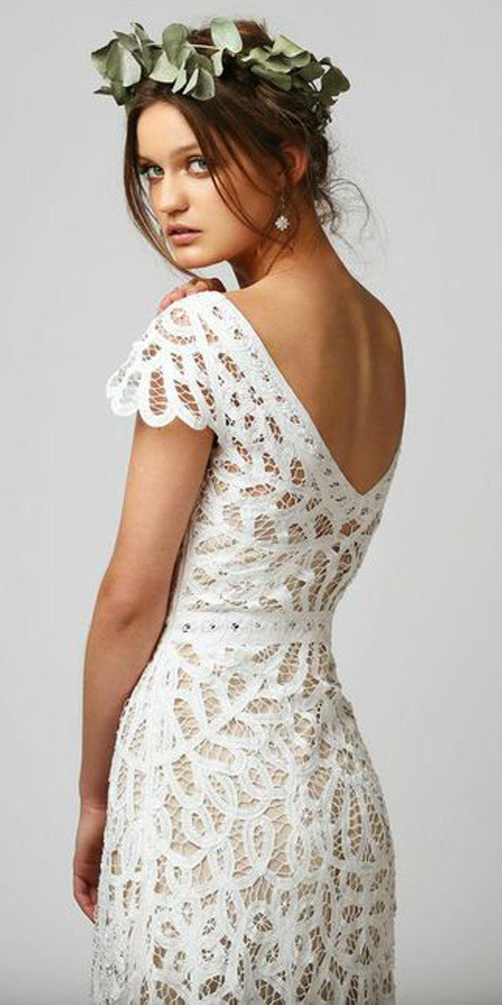 The Violet Dress Features Hand Made Cotton Battenburg Lace Worn Over A Silk Crepe Bias Cut