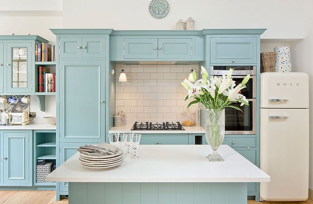 Detali Kuhni Robins Egg Blue Kitchen Blue Kitchens Blue Kitchen Cabinets