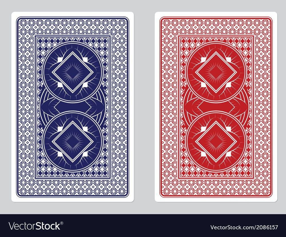 Playing Card Back Designs Royalty Free Vector Image , ad