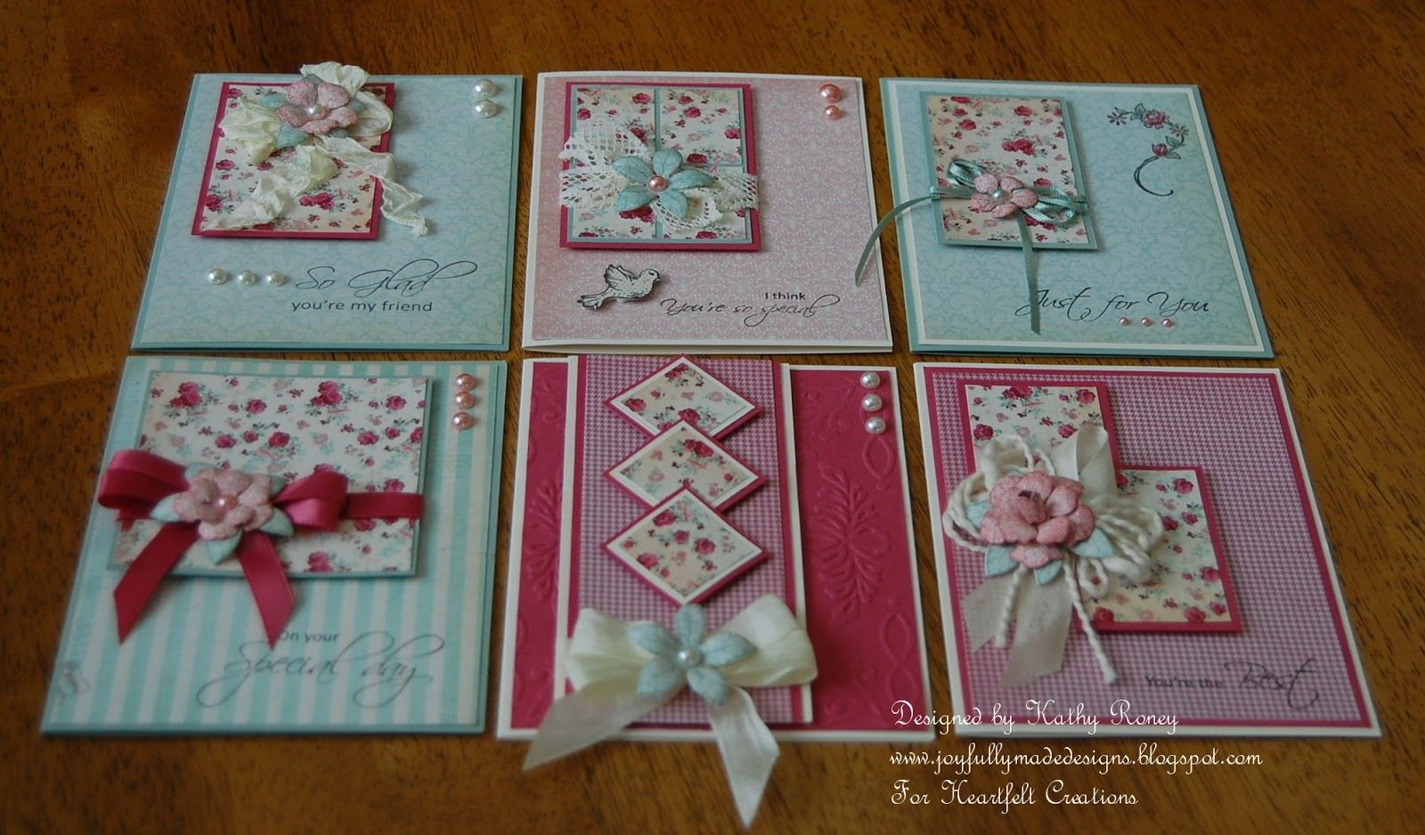 One Sheet Wonder 6x6 Card Set By Kathy Roney Cards I Love