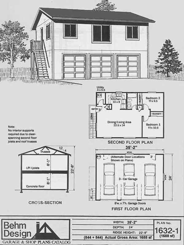 One Story Garage Apartment Elegant 1000 Ideas About Garage Apartment Plans On Pinterest Garage Apartment Plans Barn Garage Plans Garage Plans With Loft