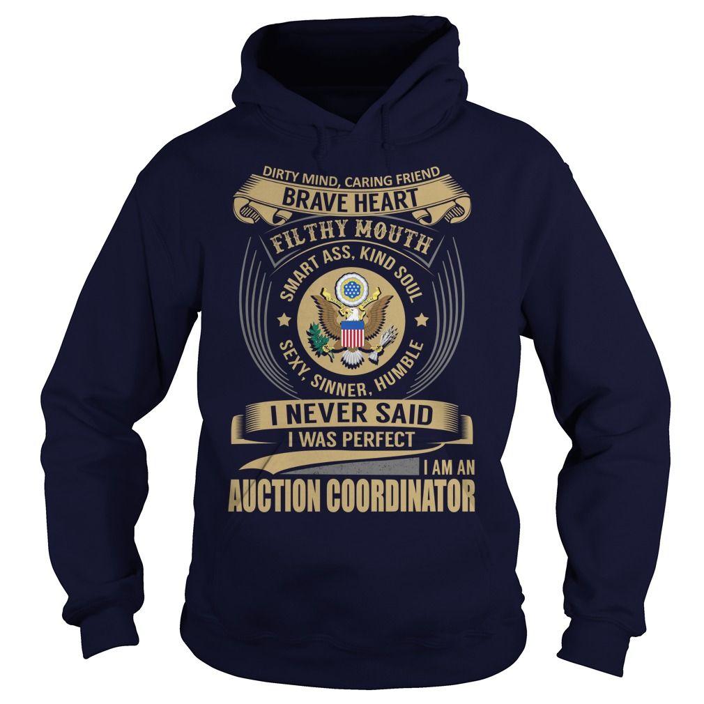 (Tshirt Amazing Produce) Auction Coordinator Job Title Discount 5% Hoodies Tee Shirts
