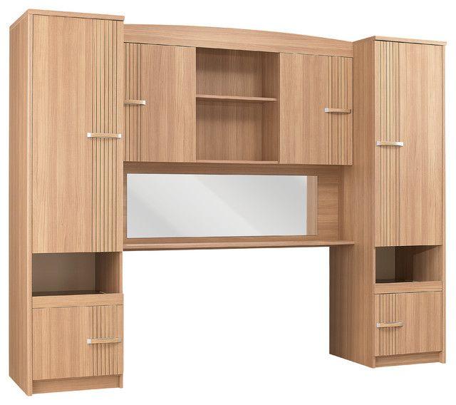 Nice Headboard Storage Unit Bed
