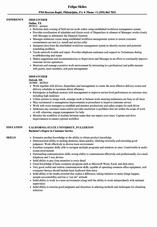 23 dispatcher job description resume in 2020 job