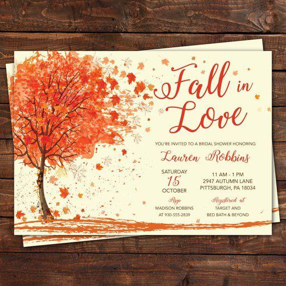 Self-Edit Template Printable Fall In Love Autumn Bridal