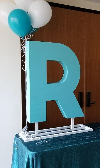 Custom Sign In sculpture for your next birthday party! Set your party apart with custom signage.