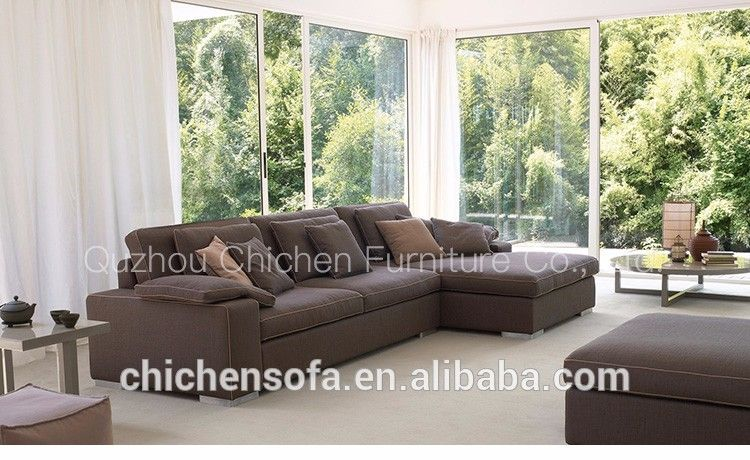 wholesale hotselll hotel leather big sofa set made in china ...