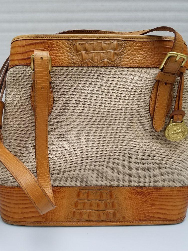 b15f9d26f845 Dooney Bourke Purse Bag Charm Tag Brown Leather Gold Tone Metal Fob ...