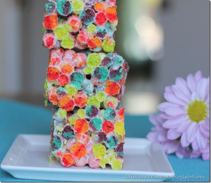 """Silly Rabbit. This post is almost exactly like my first post in """"marshmallow treats week"""". The only difference is that I used Trix cereal instead of Reese's Puffs. These """"treats'"""" are great for kids because they are so colorful and bright. It makes me happy to look at them. How could these treats not...Read More »"""