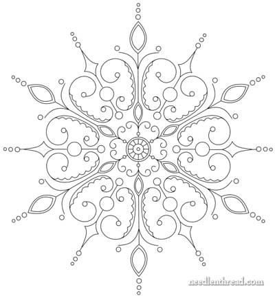 Free Hand Embroidery Pattern Snowflake Embroidery Patterns