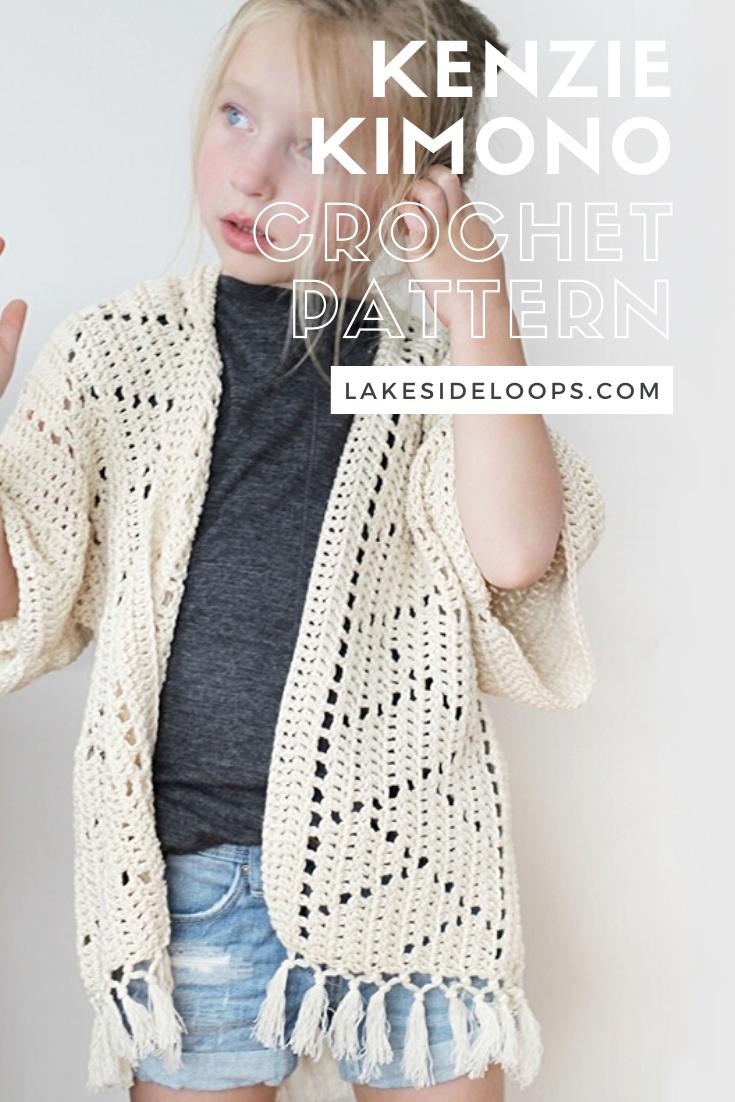 Crochet Pattern - Kenzie Kimono by Lakeside Loops
