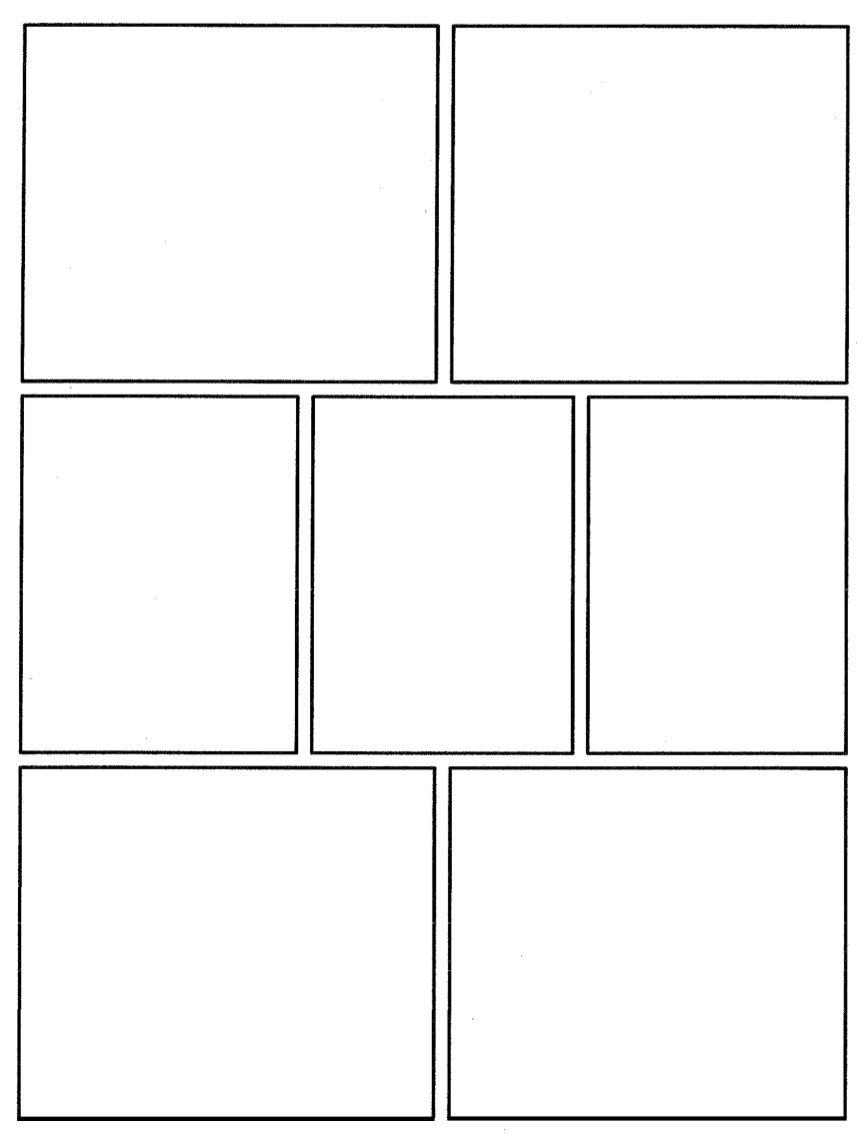 This is a blank graphic novel comic book template that can be – Comic Strip Template