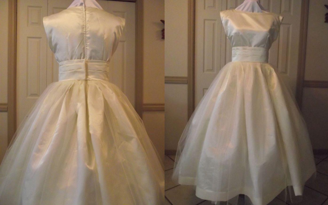 Plus size retro wedding dresses  Audrey yes  wedding ideas  Pinterest  Tea length Gowns and
