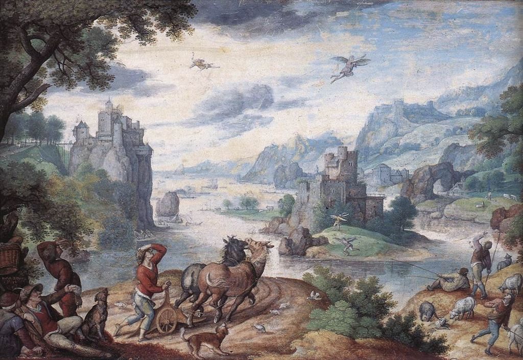 Bol, Hans - Landscape with the Fall of Icarus - Hans Bol - free bol