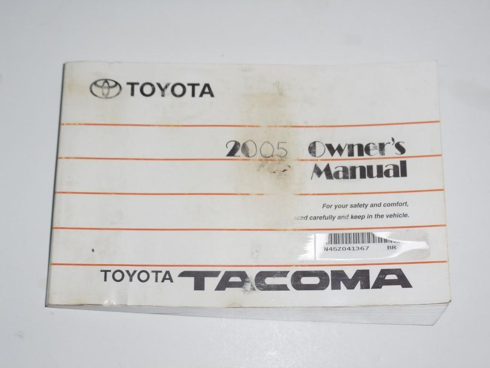 2005 toyota tacoma owners manual book owners manuals pinterest rh pinterest com 2005 toyota tacoma service manual 2005 toyota tacoma owners manual