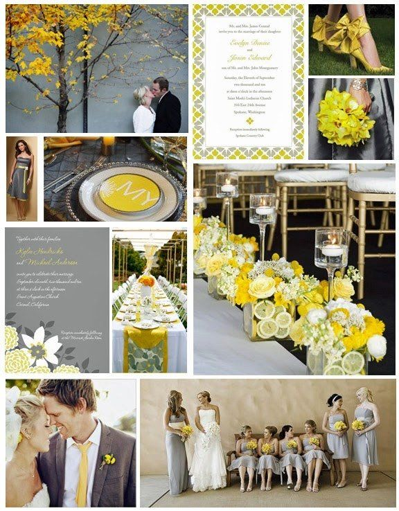 Summer Wedding Colors: Slate Grey & Lemon Yellow | & maybe one day ...