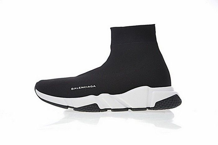 95c4d10397a7a Best Quality Balenciaga Speed Stretch-Knit Mid Trainers Noir Blanc New  Arrival Balenciaga Speed Trainers