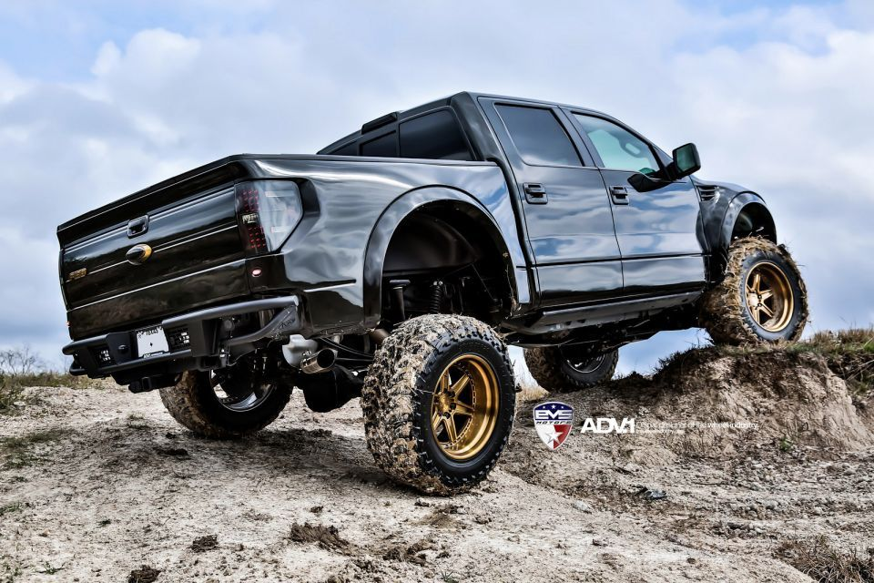 ford f150 2014 raptor gold wheels - Ford F150 Raptor 2015