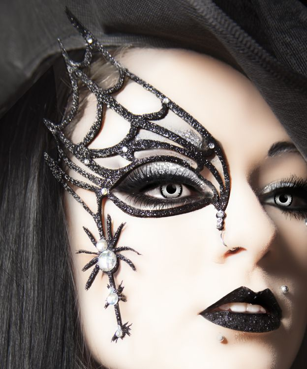 Xotic Eyes 3D Spider Web Halloween Mask Makeup Kit | Fancy Faces ...