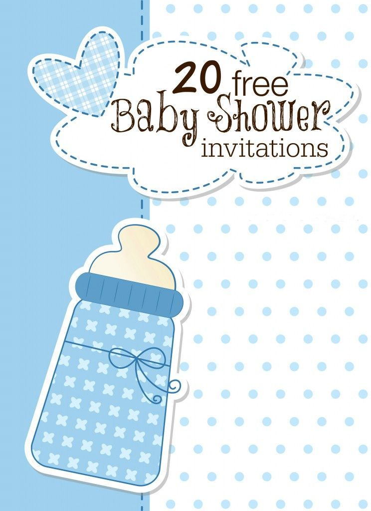 18 Printable Baby Shower Invites Party Time Baby Shower