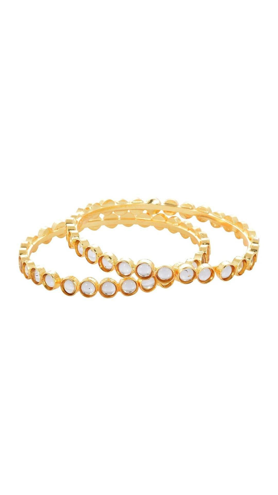 Buy waama jewels party wear golden one pair bangle designer bangle