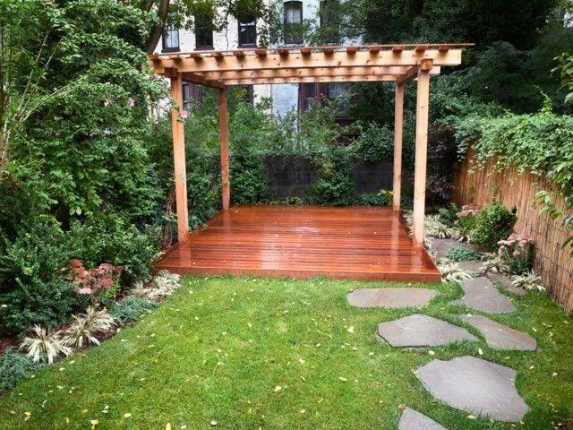 Pergola Simple Idea Madera Marron Perfecta Jardin | Deco Hogar