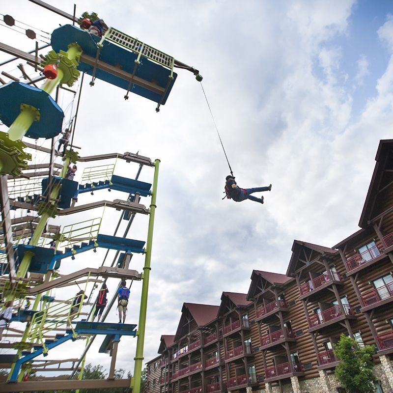 Climb To The Top Of Howlers Peak Ropes Course At Great Wolf Lodge Pocono Mountains Pa Gwlpoconoready