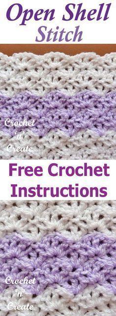 Open Shell Crochet Stitch
