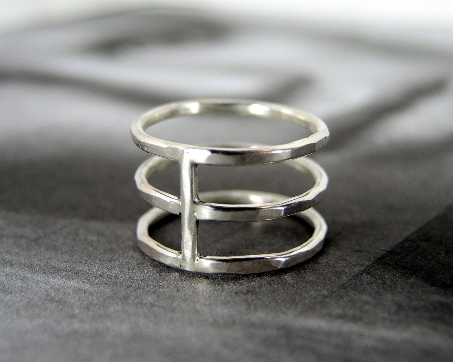 Original+wide+triple+band+above+knuckle+ring.+by+RockElegance,+$38.00