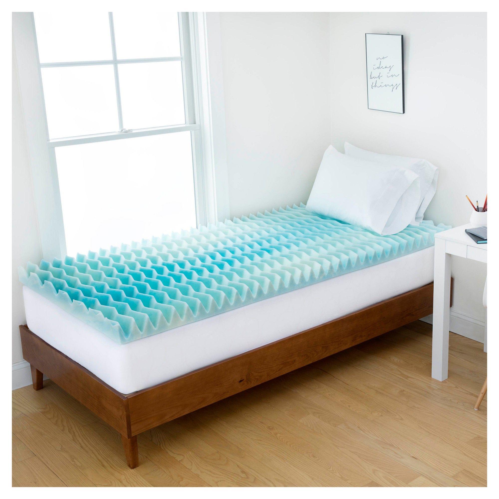 1 5 Blue Wave Memory Foam Dorm Mattress Topper Twin Extra Long