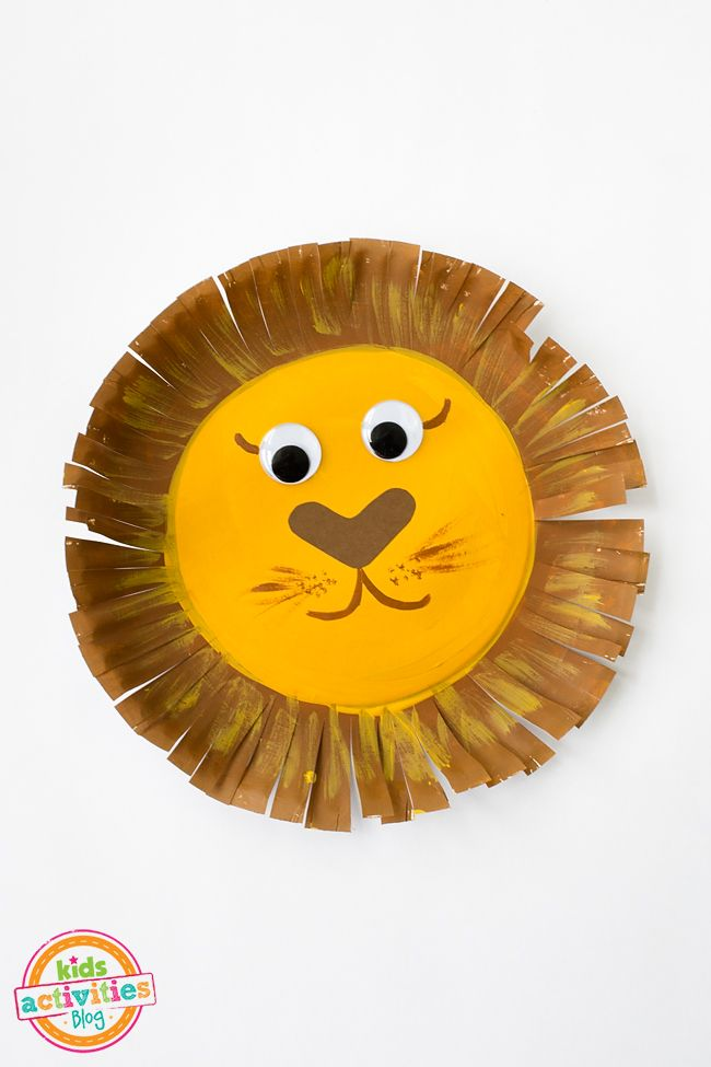 Paper Plate Lion Activities For Kids Crafts For Kids Crafts