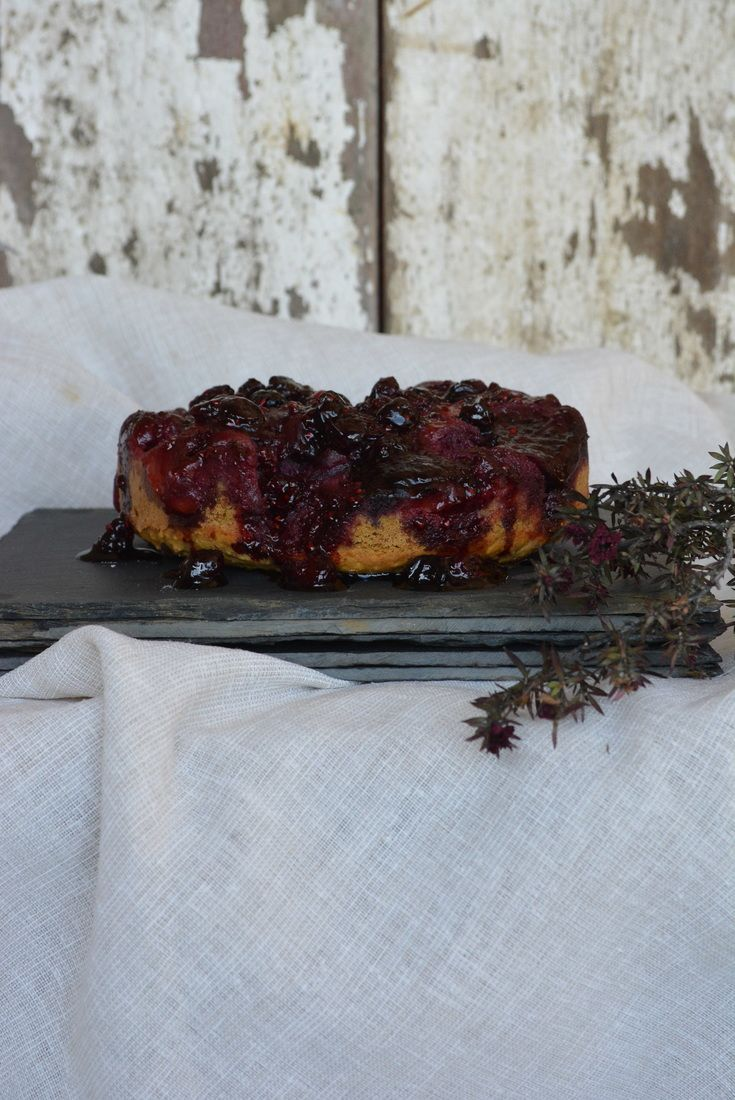 Upside-Down Tamarillo Cake