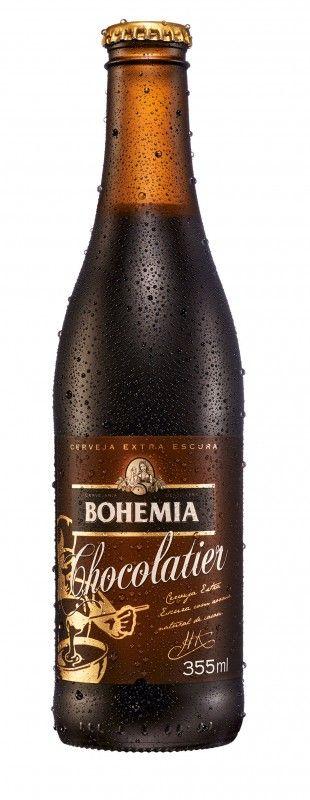 Cerveja Bohemia Chocolatier, estilo Dark American Lager, produzida por AmBev, Brasil. 4% ABV de álcool.
