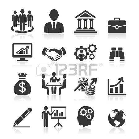Business Icons Management And Human Resources Set1 Business Icon Business Icons Vector Business Stock Photos
