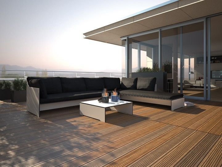 riva lounge garten loungegruppe von conmoto | hpl mit polster, Garten und erstellen